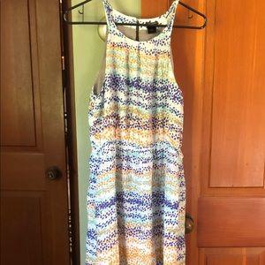 Ann Taylor printed maxi dress